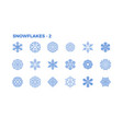 snowflake icons decorative elements of winter vector image vector image