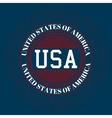 Stock logo USA vector image