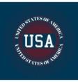 Stock logo USA vector image