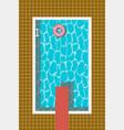 swimming pool swim ring springboard for jump vector image