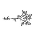 tattoo rose flowertattoo mystic symbol with word vector image vector image