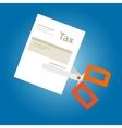 Tax amnesty cut paper scissor vector image vector image