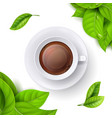 tea time background template with realistic vector image