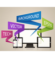 technology screens background vector image vector image
