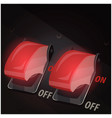 toggle switches with safety covers vector image vector image