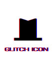 top hat icon flat vector image vector image