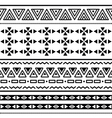 Tribal ethinc ztec seamless pattern vector image vector image