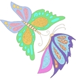 Two blue pink butterfly isolated on white vector image vector image