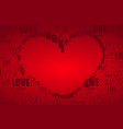 valentines day postcard with heart - love concept vector image vector image