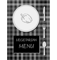 vegetarian menu vector image