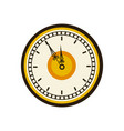 vintage clock time round design vector image