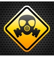 Warning sign with gas mask vector image vector image