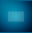 waves icon isolated on blue background vector image