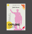 welcome to the julio caesar explore travel enjoy vector image vector image