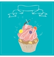 with the image of cakes and ribbons vector image vector image