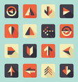 Flat Arrow Icons With Shadows vector image