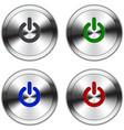 Metallic Power Button vector image