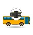 bus transport public cross road vector image
