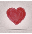 hand drawn grunge watercolor heart Can b vector image