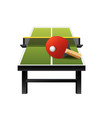 3d table tennis ping-pong equipment with net vector image vector image