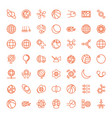 49 sphere icons vector image vector image