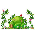 a green hill house vector image vector image