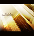 abstract futuristic background with polygonal vector image vector image