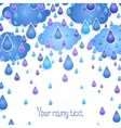 background with rain drops for the text vector image vector image