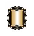 Baroque Golden Rococo frame decor vector image vector image