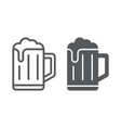 beer line and glyph icon drink and alcohol lager vector image vector image