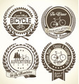 bicycle retro laurel wreath collection vector image vector image