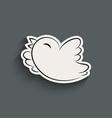 Bird icon with shadow vector image vector image