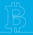bitcoin one line design crypto currency concept vector image