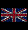 british flag mosaic of delivery lorry icons vector image vector image