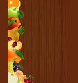 business a lot of juicy tasty fruits vector image
