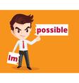 businessman make possible vector image