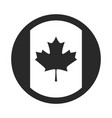 canada day canadian flag patriotic badge vector image