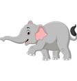 cartoon elephant isolated on white background vector image vector image