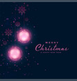 christmas festival dark background with glowing vector image vector image