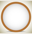 circle wooden picture image or photo frame vector image