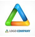 Color triangle on white vector image vector image