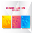 colorful gradient abstract background template vector image