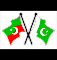 cross pkistan and pti flag vector image vector image