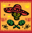 day of the dead party vector image vector image