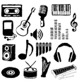 doodle music images vector image