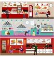Fast food restaurant interior vector image vector image