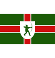 Flag of Nottinghamshire vector image vector image