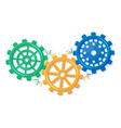 geometric colorful gear wheels cogwheel isolated vector image