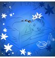 Girl Lying Down for a Massage vector image vector image