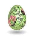 Gold egg with hand draw floral ornate isolated on vector image vector image